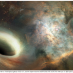 Astronomers detected two supermassive black holes orbiting each other