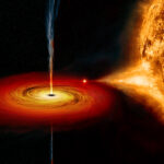 Astronomers captured black hole emitting hot material into space!